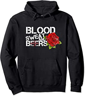 Blood Sweat Beers Hoodie England Flag Rugby Six Nations