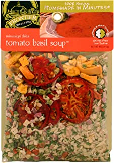 Frontier Soups Homemade In Minutes Mississippi Delta Tomato Basil Soup, 4.0-Ounce Bags (Pack of 4)