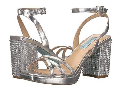 Blue by Betsey Johnson Zhara Block Heeled Sandal (Silver) Women