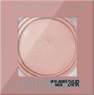 Maybelline Color Tattoo Waterproof Fade Resistant Crease Resistant Blendable Cream Eyeshadow Pots Makeup, Socialite, 0.14 Oz