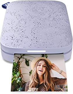 """HP Sprocket Portable 2x3"""" Instant Photo Printer (Lilac) Print Pictures on Zink Sticky-Backed Paper from Your iOS & Android..."""