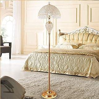 BXZ Lampadaire en cristal, lampadaire dimmable moderne doré avec télécommande, lampadaire design avec anneaux entrelacés e...
