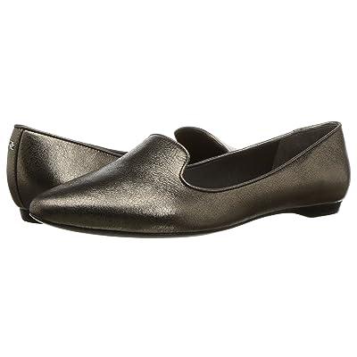 Donna Karan Gold Loafer (Pewter Crinkled Metallic) Women