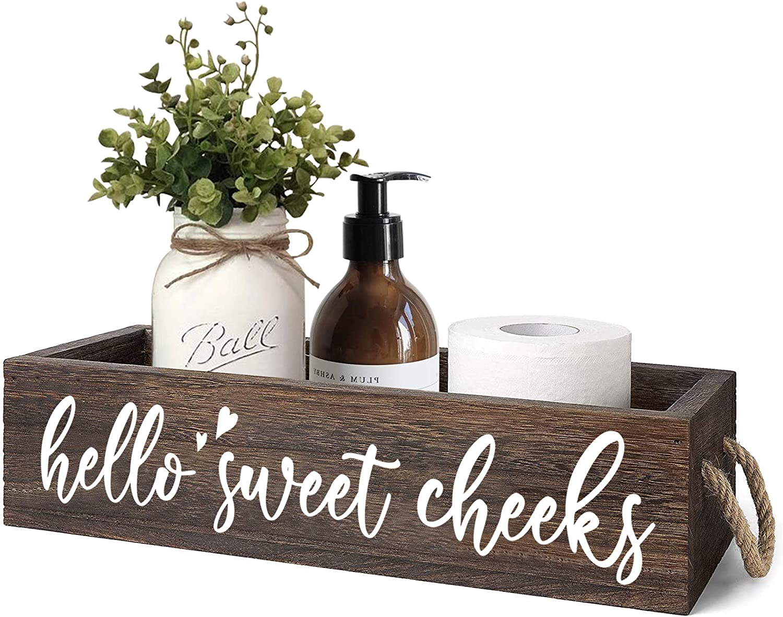 MayAvenue Farmhouse Ranking TOP18 Bathroom Excellence Decor Box Double Cheeks Sweet Hello