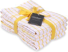 AMOUR INFINI Terry Kitchen Towels | Set of 4 | 20 x 28 Inches | Super Plush and Absorbent |100% Cotton Dish Towels with Ha...