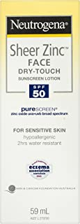 Neutrogena Sheer Zinc Face Sunscreen Lotion SPF50 59mL