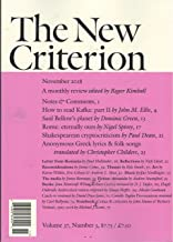 The New Criterion Magazine November 2018