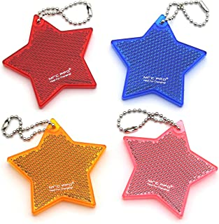 MFC PRO 4Pcs Super Bright Safety Reflector - Stylish Reflective Gear for Jackets, Bags, Purses, Backpacks, Strollers and W...