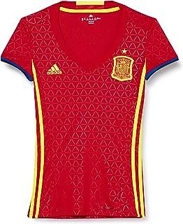 Adidas Dames FEF H W Voetbalshirt, Rood/Escarl/Amabri, 2X-Small
