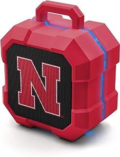 NCAA Nebraska Cornhuskers Shockbox LED Wireless Bluetooth Speaker, Team Color