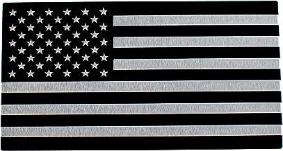 3D METAL American Flag Car Sticker Emblem For Auto, Bike, Truck, Car, and SUV (Black & Silver)