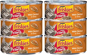 Purina Friskies Prime Filets With Chicken in Gravy Adult Wet Cat Food - 5.5 oz. Can (6 Cans)