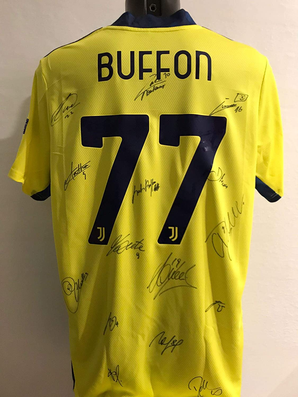 "JUVE Maglia Gara Home ""Buffon 1"" Autografata Firmata 2019/2020 FC Juventu Juv Partita Record"