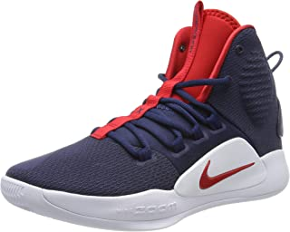 red white and blue athletic shoes