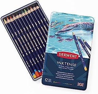 Derwent Colored Pencils, Inktense Ink Pencils, Drawing, Art, Metal Tin, 12 Count (0700928)