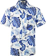 Men's Hawaiian Shirt Short Sleeve Aloha Shirt Beach Party Flower Shirt Holiday Print Casual Shirts L3