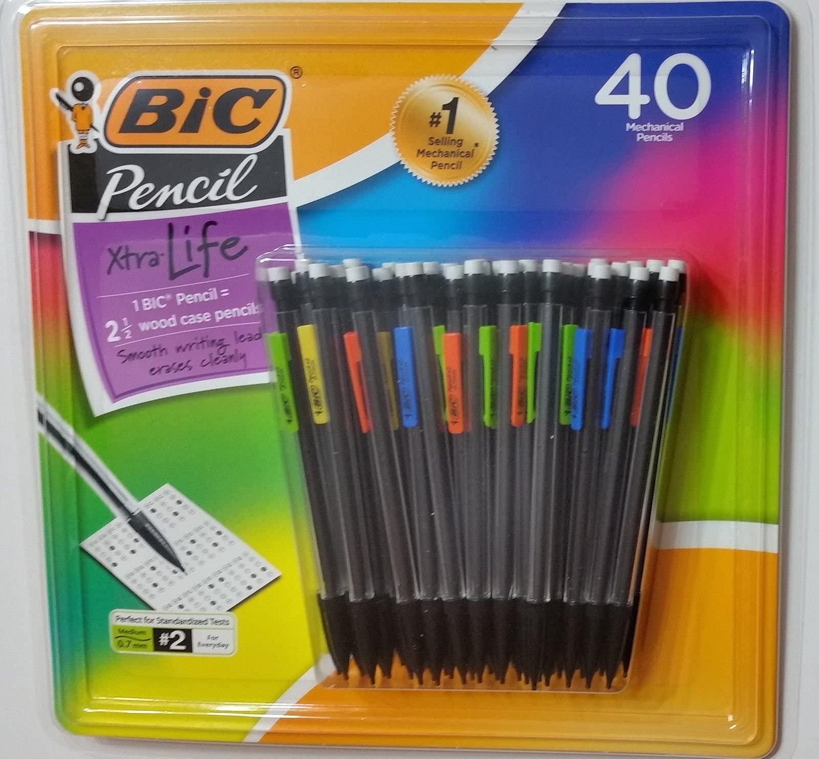 BIC Mechanical Pencil, 0.7mm, 40 ct