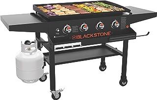 Blackstone 1984 Original 36 Inch Front Shelf, Side Shelf & Magnetic Strip Heavy Duty Flat Top Griddle Grill Station for Ki...