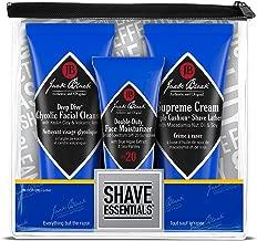Jack Black - Shave Essentials Set - Deep Dive Glycolic Facial Cleanser, Supreme Cream Triple Cushion Shave Lather, and Double-Duty Face Moisturizer SPF 20, Three Piece Set