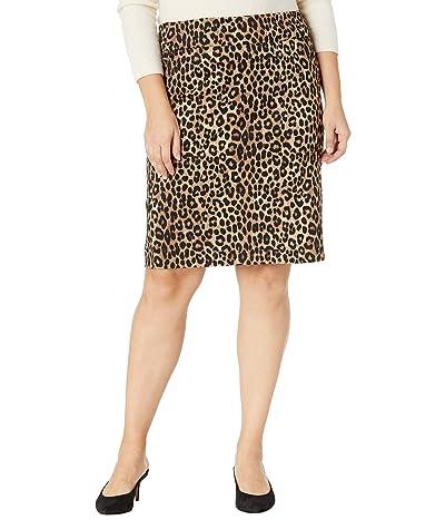 MICHAEL Michael Kors Plus Size Cheetah Pencil Skirt