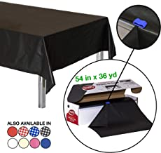 Neatiffy 54 Inch x 108 Feet Disposable Plastic Table Cloth Roll, Party/Banquet Table Cover, Tablecloths For Rectangle/Round/Square Tables, Equals To 12 Picnic Pack (Black)
