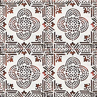 Decolfa Home Kitchen Decoration Wall Mosaic Decor Tile Sticker Backsplash Peel and Stick European Art Design Made in Japan (Red)