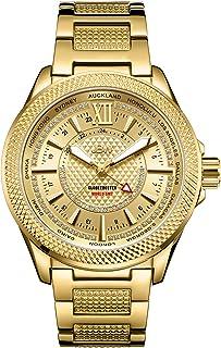 ساعة جيه بي دبليو رسمية للرجال، انالوج، مطلية بالذهب الأصفر - J6365-10B