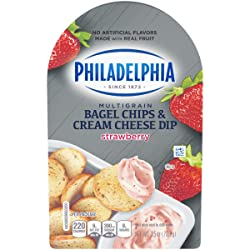 Philadelphia Multigrain Bagel Chips & Strawberry Cream Cheese Dip (2.5 oz Tub)