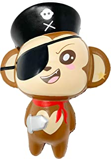 Puni Maru Jumbo Pirate Cheeki Squishy Slow Rising Monkey Squishy (Smile Face)