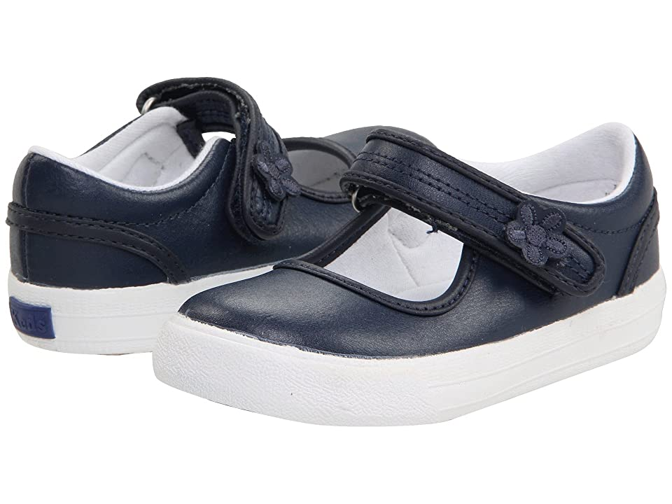Keds Kids Ella MJ (Toddler/Little Kid) (Navy) Girls Shoes