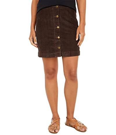 Toad&Co Cruiser Cord Skirt (Chestnut Houndstooth Print) Women