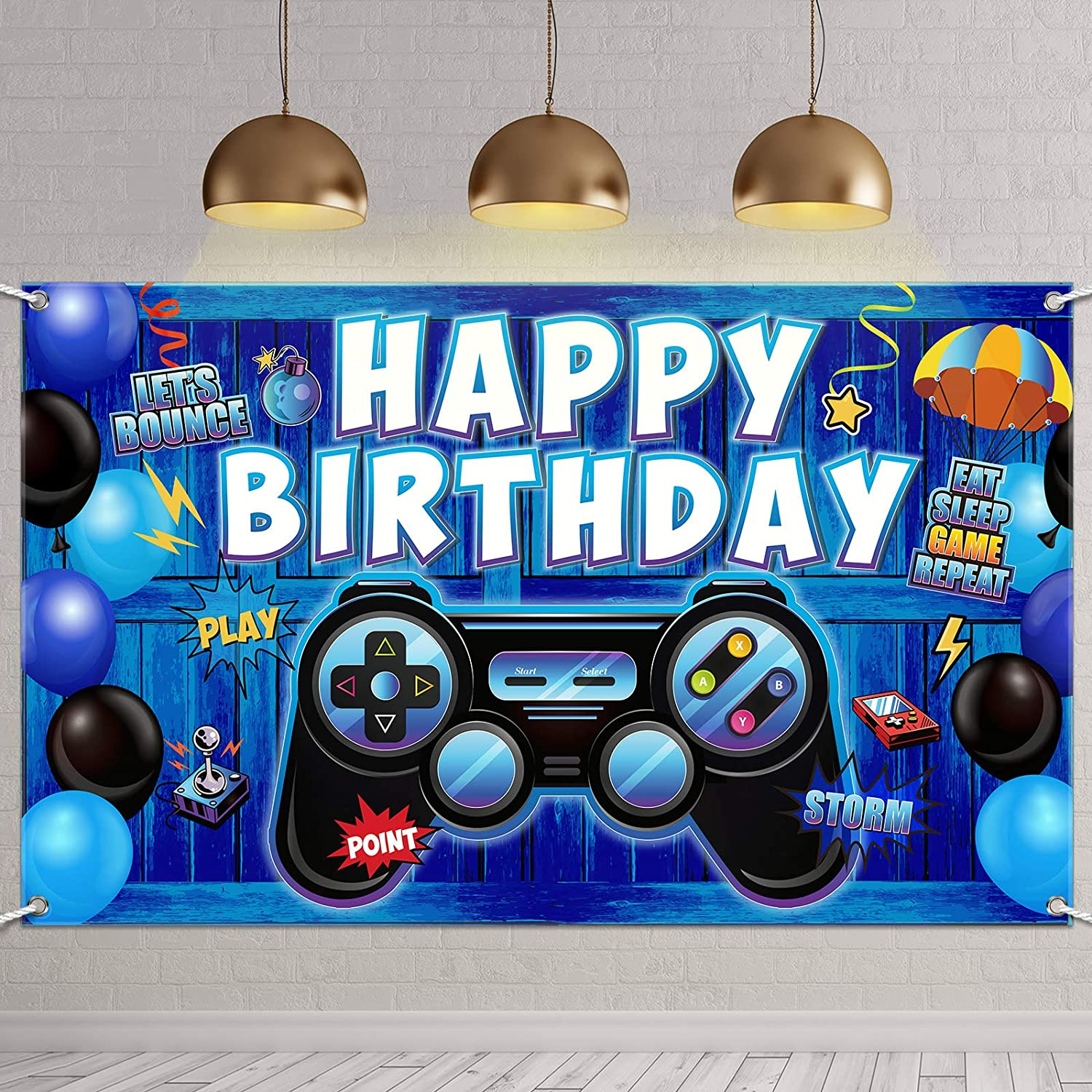 Video Game Happy Free shipping New Birthday Los Angeles Mall Backdr Party on Backdrop