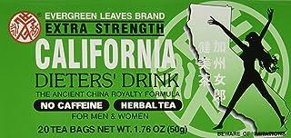 Evergreen Leaves Brand California Dieters` Tea 20 TB