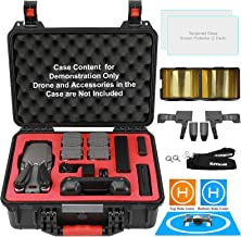 $99 » Symik Rugged Hard Carrying Case for DJI Mavic 2 Pro/Zoom with Smart Controller Bundle with Screen Protectors, Landing Pad for Drones, Remote Lanyard, Landing Gear Extensions and Signal Booster