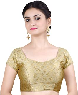 Women's Party Wear Bollywood Readymade Indian Style Saree Blouse Padded Brocade Choli (B113)