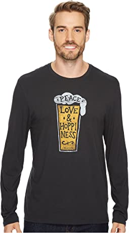 Life is Good - Peace Love Hoppiness Long Sleeve Smooth Tee