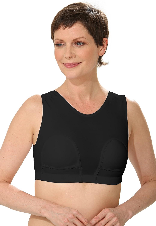 HydroChic Women's Mastectomy Bra with Pockets, Wire Free Swim Bra