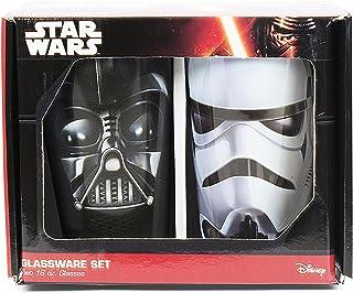 Silver Buffalo SW031P8 Disney Star Wars Ep 5 & Empire 2-Piece Colored Glass Pint Set, 16-Ounces