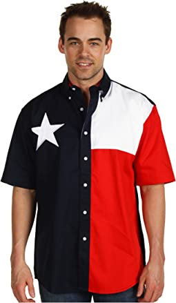 S/S Pieced Texas Flag Shirt