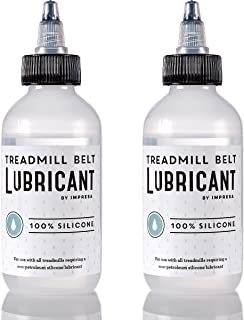 2 Pack of 100% Silicone Treadmill Belt Lubricant / Lube - Easy to Apply Lubrication - Made in the USA