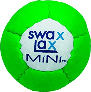 SWAX LAX Lacrosse Specialty Balls Including Pro-Grip Tacky Material, Power Weighted 12 Percent Heavier, Mini Smaller/Lighter Ball for Mini Sticks; Less Bounce
