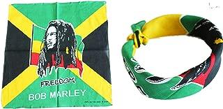 BUNFIREs 1pcs Bob Marley Bandana Head Wrap Rastafari Yardie Rasta Irie Reggae Dread One Love