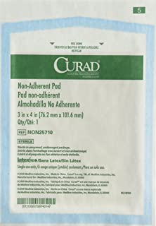 Curad - NON25710 Sterile Non-Adherent Pads (Pack of 100) for gentle wound dressing and absorption without sticking