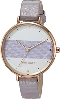 Nine West Women's Vegan Leather Strap Watch, NW/2488