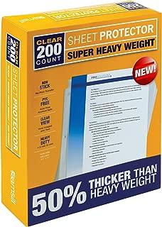 super heavyweight sheet protectors