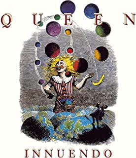 Sticker Queen Innuendo Album Cover Art British English Rock Band Music Decal