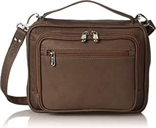 Piel Leather Multi-use Tablet Carry-all, Chocolate