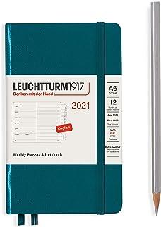 ロイヒトトゥルム 手帳 2021年 1月始まり A6 ウィークリー パシフィックグリーン 361864