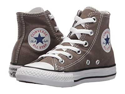 Converse Kids Chuck Taylor(r) All Star(r) Core Hi (Little Kid) (Charcoal) Kids Shoes