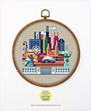 Embroidery Pattern Kit Threads Villains K020 Counted Cross Stitch KIT#2 Fabrick and 4 Printed Color Schemes Inside Needles